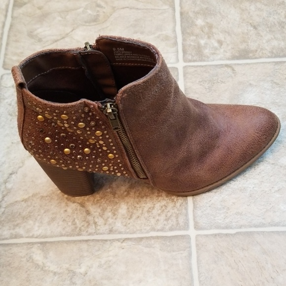 Maurices Shoes - MAURICES BRANDY BROWN SUEDE BOOTS